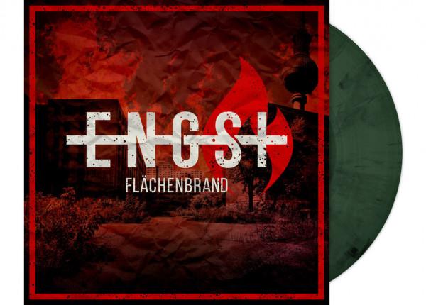 "ENGST - Flächenbrand 12"" LP - GREEN/BLACK MARBELED"