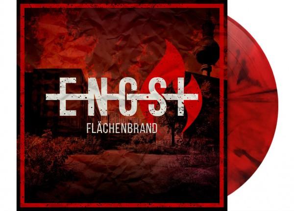"""ENGST - Flächenbrand 12"""" LP - RED/BLACK MARBELED"""